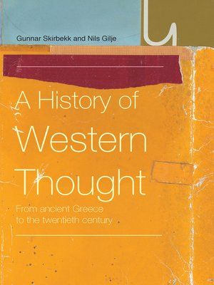 cover image of A History of Western Thought