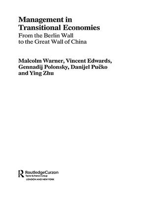 cover image of Management in Transitional Economies