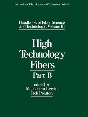 cover image of Handbook of Fiber Science and Technology Volume 2