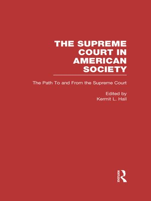 cover image of The Path to and From the Supreme Court