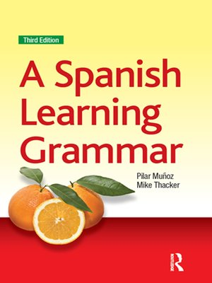 cover image of A Spanish Learning Grammar