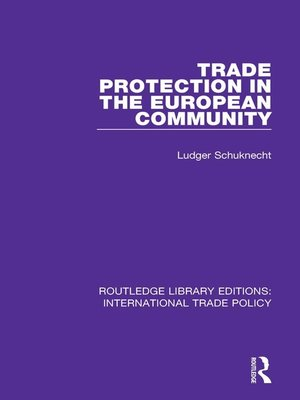 cover image of Trade Protection in the European Community