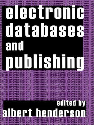 cover image of Electronic Databases and Publishing