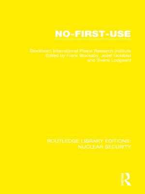cover image of No-First-Use