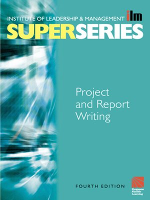 cover image of Project and Report Writing