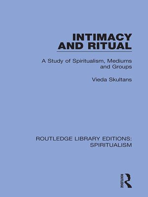cover image of Intimacy and Ritual