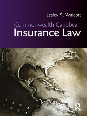cover image of Commonwealth Caribbean Insurance Law