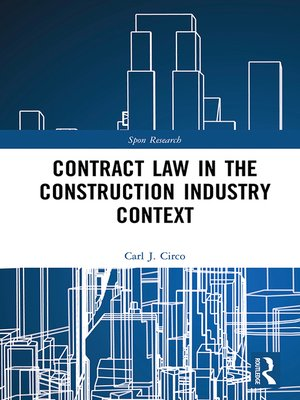 cover image of Contract Law in the Construction Industry Context