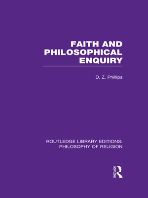 cover image of Faith and Philosophical Enquiry