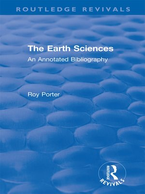 cover image of The Earth Sciences