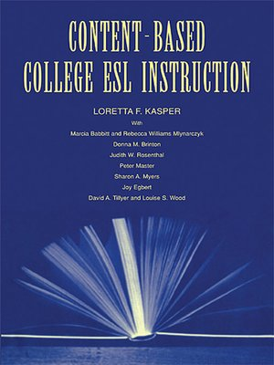 cover image of Content-Based College ESL Instruction