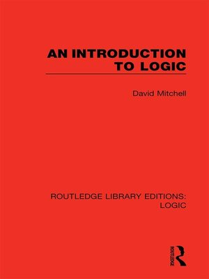 cover image of An Introduction to Logic