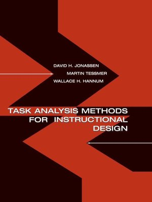 cover image of Task Analysis Methods for Instructional Design