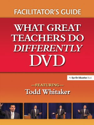 cover image of What Great Teachers Do Differently Facilitator's Guide