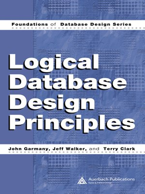 cover image of Logical Database Design Principles