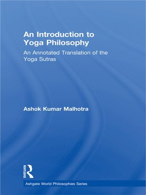 cover image of An Introduction to Yoga Philosophy