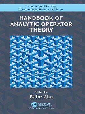 cover image of Handbook of Analytic Operator Theory