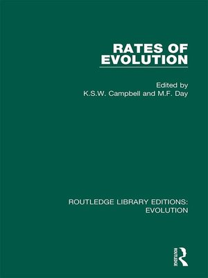 cover image of Rates of Evolution