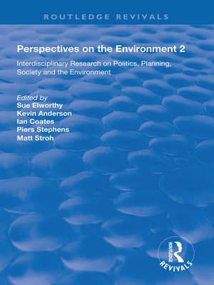 cover image of Perspectives on the Environment (Volume 2)