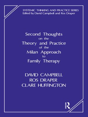 cover image of Second Thoughts on the Theory and Practice of the Milan Approach to Family Therapy
