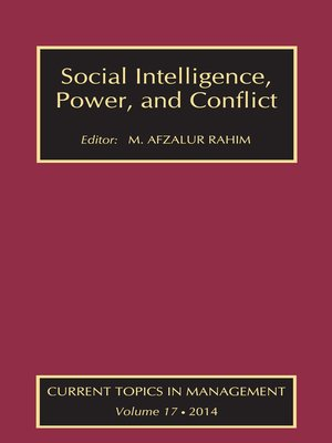 cover image of Social Intelligence, Power, and Conflict