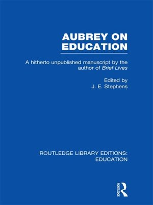 cover image of Aubrey on Education