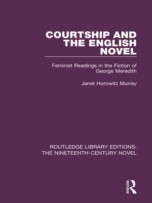 cover image of Courtship and the English Novel