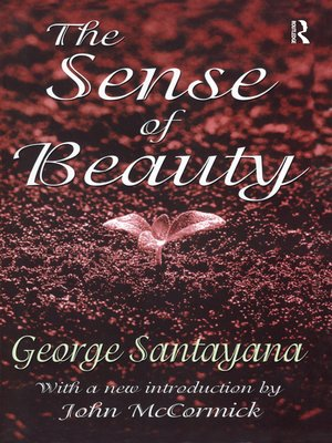 cover image of The Sense of Beauty