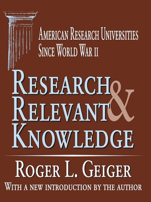 cover image of Research and Relevant Knowledge
