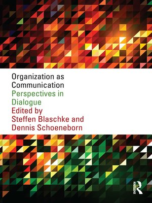 cover image of Organization as Communication