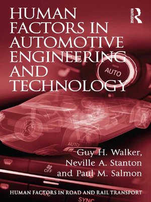 cover image of Human Factors in Automotive Engineering and Technology