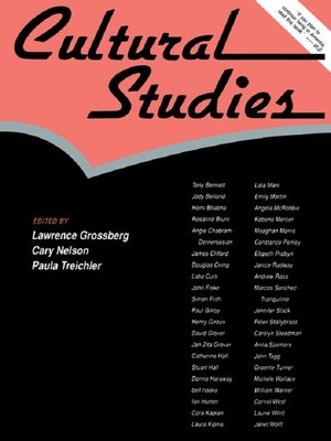 cover image of Cultural Studies