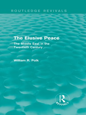 cover image of The Elusive Peace (Routledge Revivals)