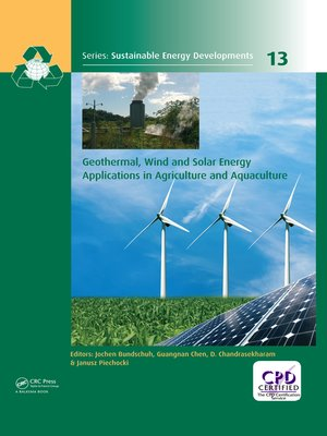 cover image of Geothermal, Wind and Solar Energy Applications in Agriculture and Aquaculture