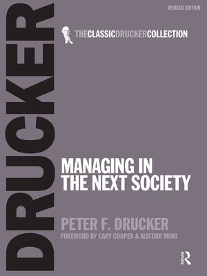 cover image of Managing in the Next Society