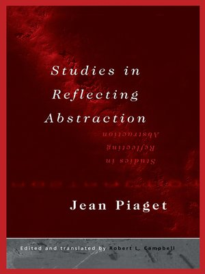 cover image of Studies in Reflecting Abstraction