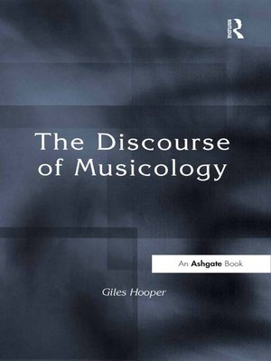 cover image of The Discourse of Musicology
