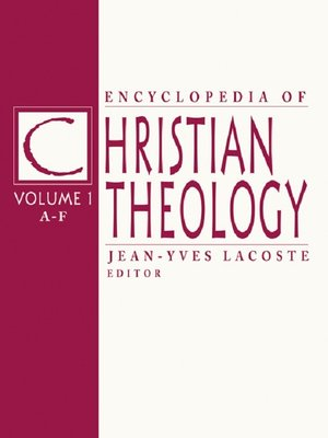 cover image of Encyclopedia of Christian Theology