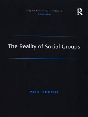 cover image of The Reality of Social Groups