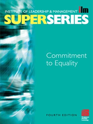 cover image of Commitment to Equality