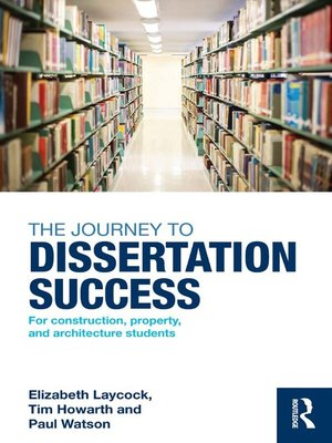 cover image of The Journey to Dissertation Success