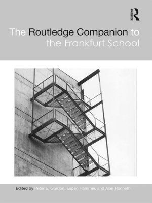 cover image of The Routledge Companion to the Frankfurt School