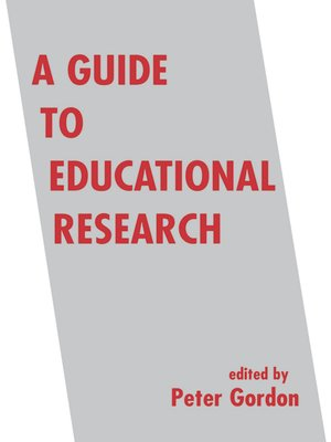 cover image of A Guide to Educational Research