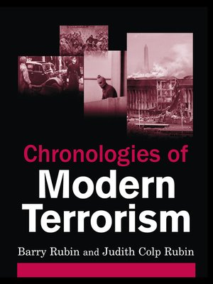 cover image of Chronologies of Modern Terrorism