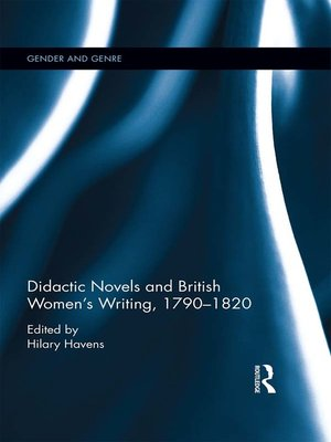 cover image of Didactic Novels and British Women's Writing, 1790-1820