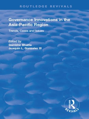 cover image of Governance Innovations in the Asia-Pacific Region