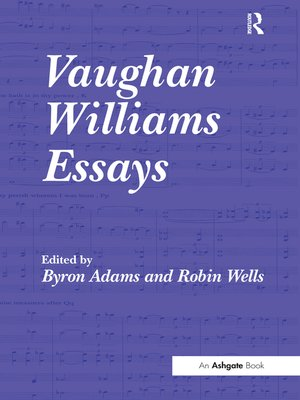 cover image of Vaughan Williams Essays