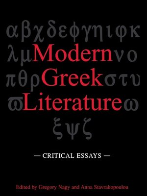 cover image of Modern Greek Literature
