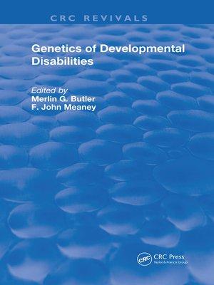 cover image of Genetics of Developmental Disabilities