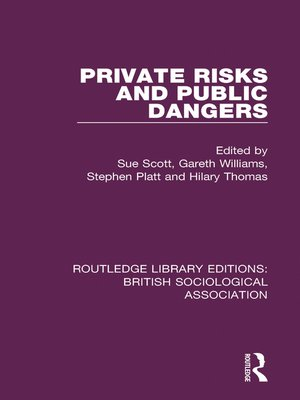 cover image of Private Risks and Public Dangers